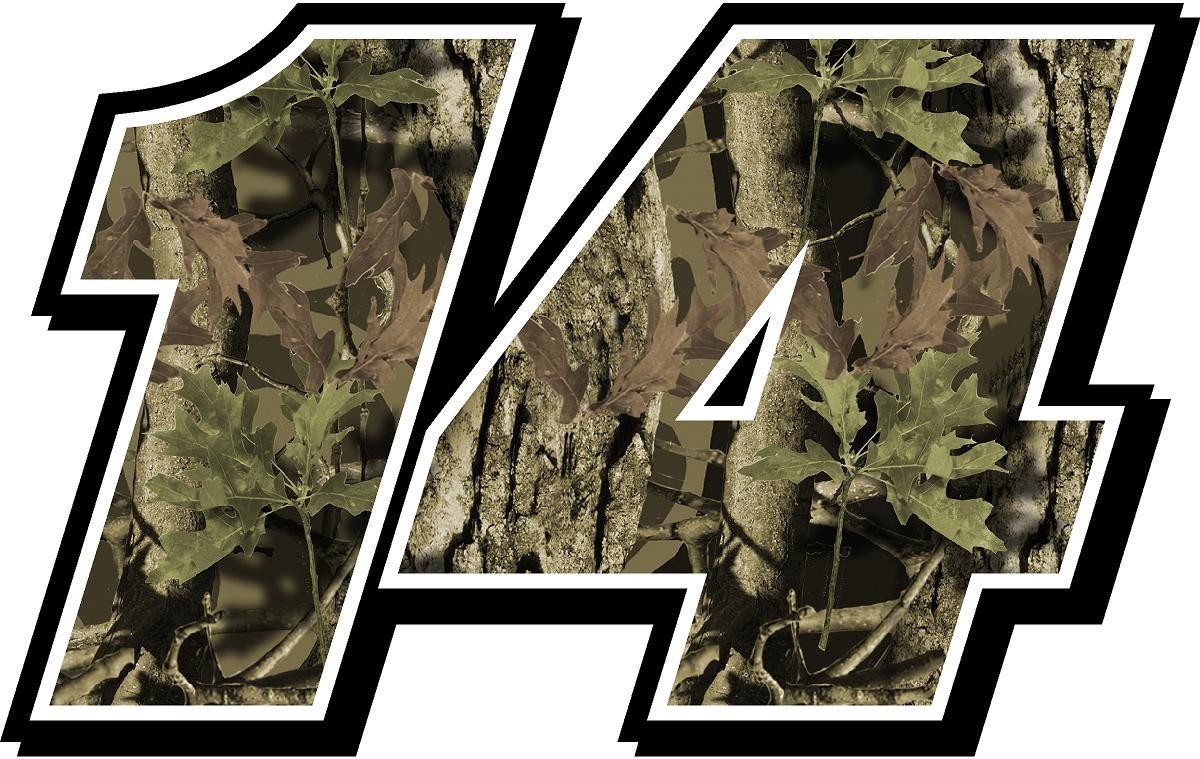 Full Color Numbers Vinyl Camo Decal Kit With Drivers Name