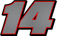 Full Color Racecar numbers Metal Mesh Decals Stickers