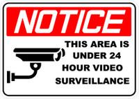 24 hour video surveillance decals