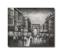 Melancholy Five | Black & White Oil Painting & Original Artwork for Sale