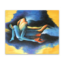 Love Affair | Abstract Art Oil Painting on Canvas for Master Bedrooms