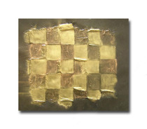 Checkers |  Gold Hand Painted Canvas Art & Oil Painting Online