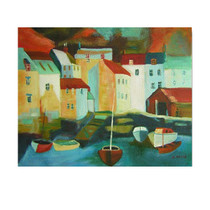 Five Boats | Cheap Art Prints? REAL Paintings