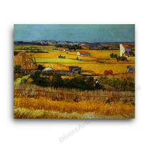 Harvest at La Crau with Montmaiour in the Background
