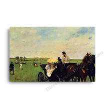 Degas | A Carriage at The Races