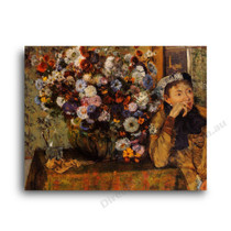 Degas | Woman with Chrysanthemums