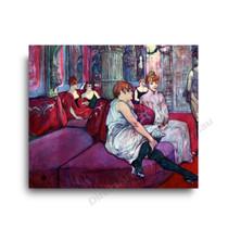 Henri de Toulouse-Lautrec | The Salon in the Rue des Moulins