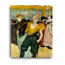Henri de Toulouse-Lautrec | At the Moulin Rouge The Clowness Cha U Kao