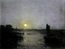 J.W.Turner | Moonlight, a Study at Millbank