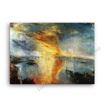 J.W.Turner | The Burning of the Houses of Parliament
