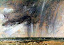 John Constable | Rainstorm off the Coast at Brighton