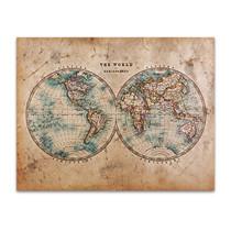 Vintage Globes Art Print