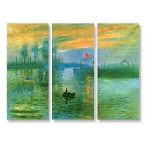 Impressionist Sunrise - 3panels