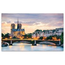 Notre Dame Cathedral At Night Art Print