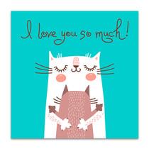 Lovely Cats Art Print