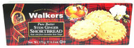 B265 Walkers Stem Ginger Shortbread 12x 175g