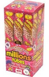 Millions Blackcurrant Tubes 12 x 85g