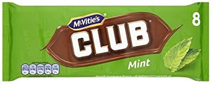 McVitie's Club Mint 15 x 8pk 176g