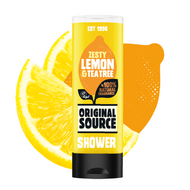 HV115 -Vegan- UK's No.1 Vegan Shower Gel - Original Source Shower Gel - Zesty Lemon & Tea Tree 250ml  x 6