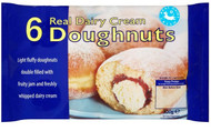 6 Country Style Cream Doughnuts 300g - 14 Packs Per Case