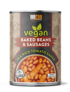 Vegan Baked Beans & Sausage in rich tomato sauce - 14.1oz Can - Serves 2 - Heat & Serve