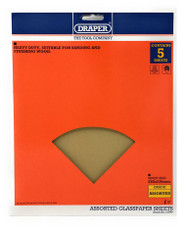 Draper Assorted Glasspaper/Sandpaper Sheets