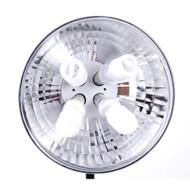 "Mettle Fluorescent Continuous Lighting 4xE27 Holder (16"" Aluminium Reflector)"