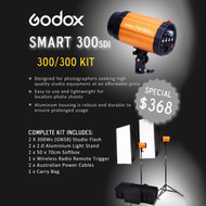 Godox Smart 300SDi 2 Lights 600ws Softbox Kit