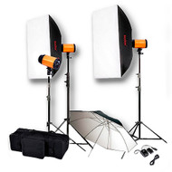 Godox Smart 300SDi 3 Lights 900ws Umbrella Softbox Kit