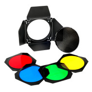 "Godox BD-04 Barn Door Colour Honeycomb Colour Gel Set ø178mm Bowens Type for 7"" Reflector"