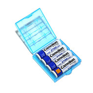 Blue AA/AAA Plastic Battery Box
