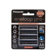 Panasonic eneloop PRO AA Rechargable Batteries 2550mAh Black Pack 4pcs