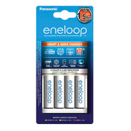 Panasonic eneloop Smart & Quick Battery Charger with 4 x AA Batteries