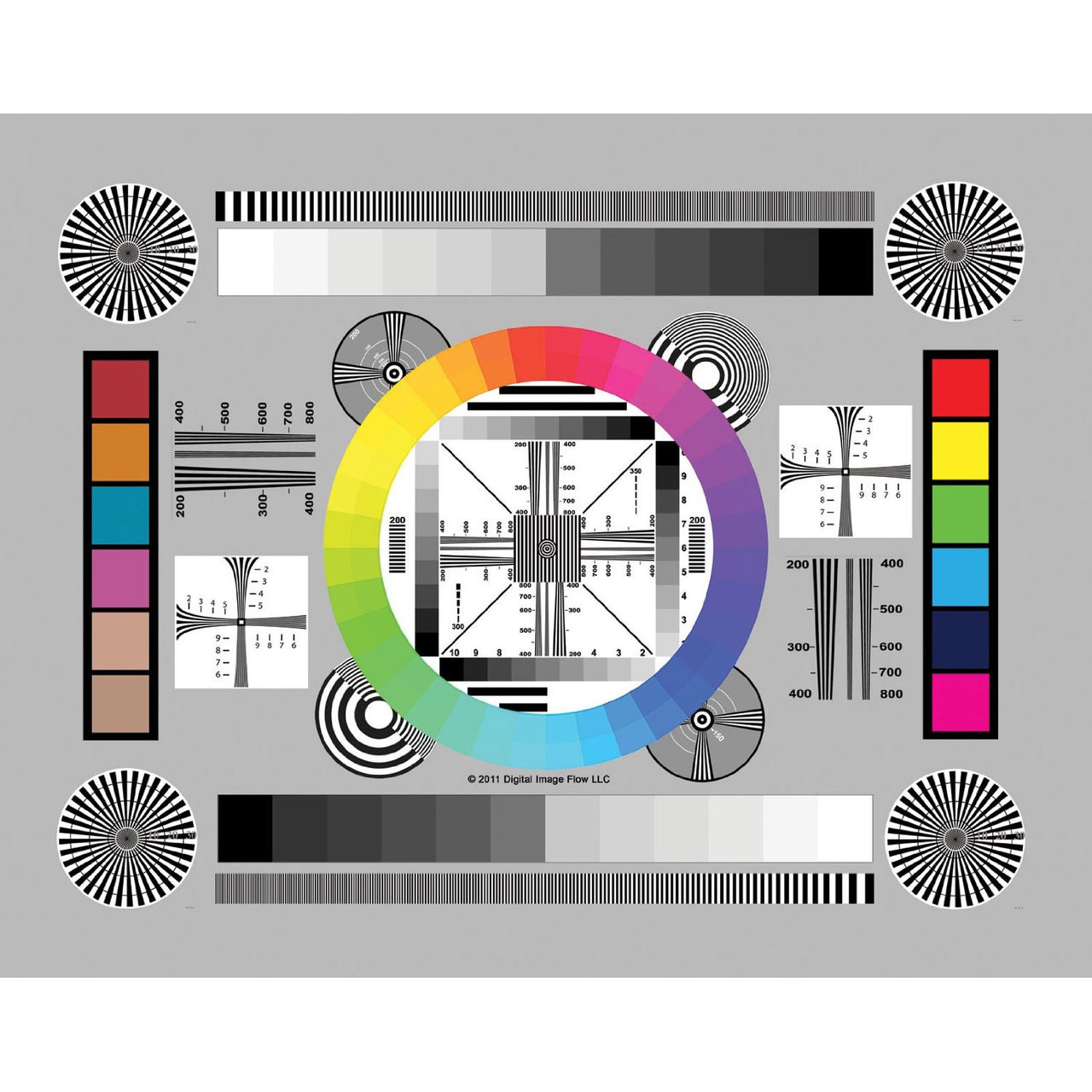 DGK DKC-CSD Chrome SD Professional Lens Test Chart/ Resolution/ Calibration  8 x 11