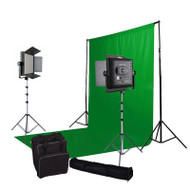 Godox Video LED Light LED1000W x2 5500K with Green Screen Lighting Kit