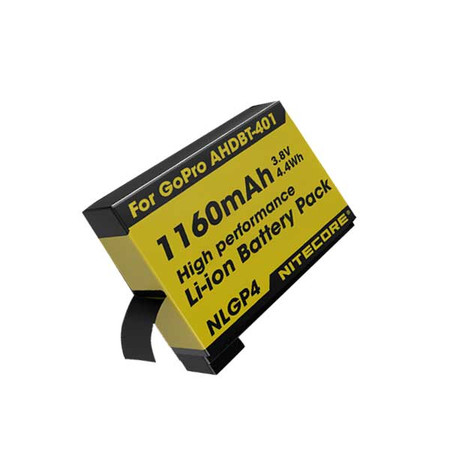 Nitecore Rechargeable Battery NLGP4 for GoPro Hero4
