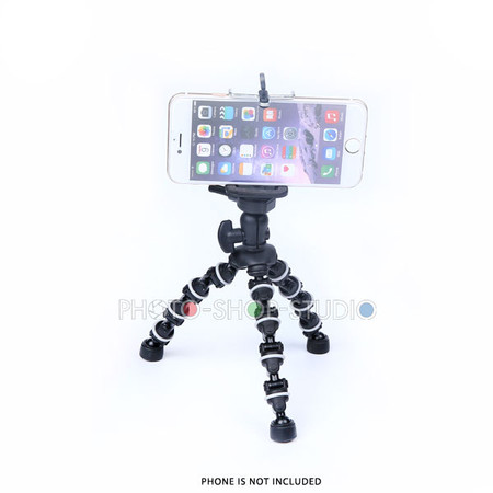 Fotolux Mini Tripod Flexi Pod with Smartphone Clip Mount for iPhone, Samsung