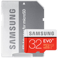 Samsung Evo+ 533x 32GB microSDHC UHS-I Memory Card with Adapter