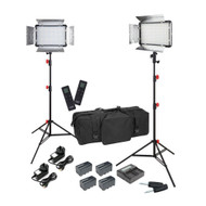 Godox Video LED Light LED500LRC x2 3200-5500K Lighting Kit