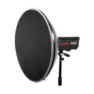 70cm White Beauty Dish Radar Reflector QZ-70 with QZ-71 Honeycomb Grid