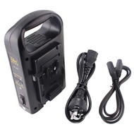 Rolux V-Mount Lock Battery Dual Charger