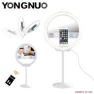 Yongnuo YN128II Bi-Color Ring LED Light with Mirror (3200-5500K ) for Smartphone