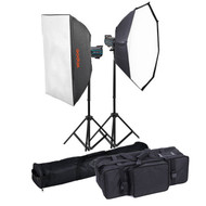 Godox 2x QS800II Studio Flash Lighting Kit