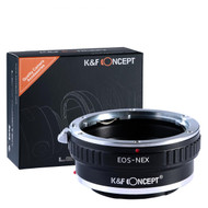 K&F Concept Canon EOS EF Lenses to Sony NEX E Mount Camera Adapter KF06.069