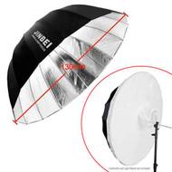 "Jinbei 51"" (130cm) Deep Umbrella Black & Silver Combo with Cloth"