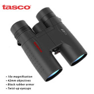Tasco 10 x 42 mm Essentials Roof Binocular ( Black , Standard ) ES10X42