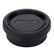 JJC L-R4 Body Cap & Rear Lens Cap for Pentax K
