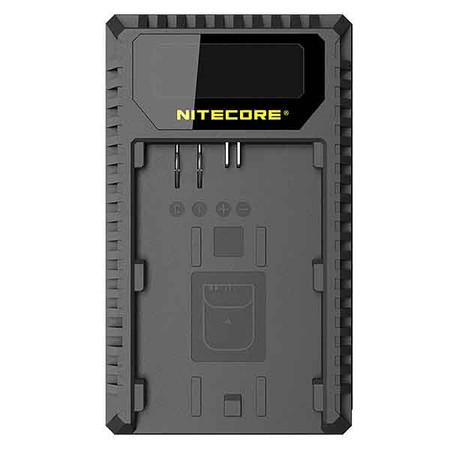 Nitecore UCN1 USB Dual-slot Camera Battery Charger for Canon LP-E6, LP-E6N, LP-E8