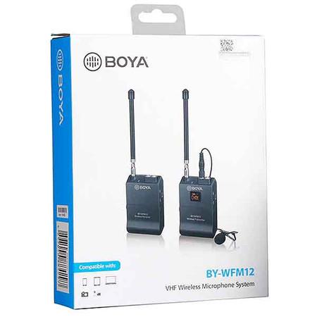 BOYA BY-WFM12 VHF Wireless Microphone System (12 Channel, 40m)