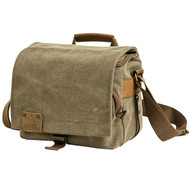 Loveps LP-TR-1235 Canvas Camera Shoulder Bag (Brown , Large)